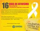 16 DIAS DE ATIVISMO PELO FIM DA VIOLÊNCIA CONTRA MULHER