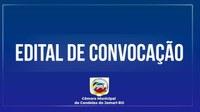 EDITAL DE CONVOCAÇÃO- SESSÃO EXTRAORDINÁRIA
