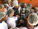 Entrega de Certificados de aperfeiçoamento de Cozinheiros